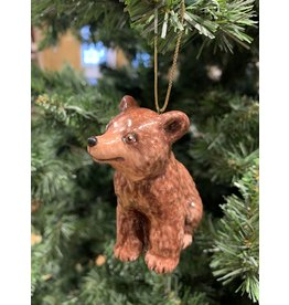 Kitmir Seated Bear Ornament (Chocolate)