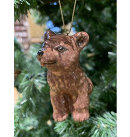 Kitmir Seated Bear Ornament (Dark Brown)
