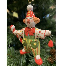 Kitmir Green Clown Ornament with Peppermint Staff