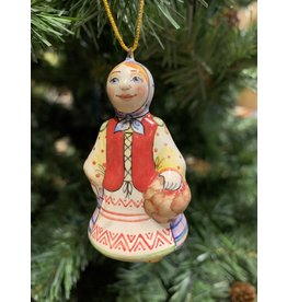 Kitmir Traditional Girl Ornament with Blue Scarf