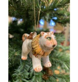 Kitmir Lion Ornament (White)
