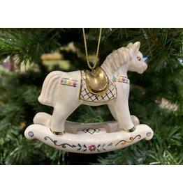 Kitmir White Rocking Horse Ornament (Medium)