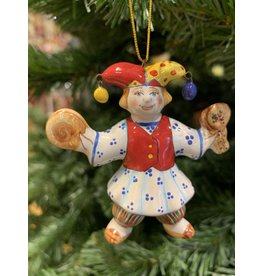 Kitmir Jester with Tamborine Ornament (Red)