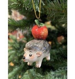 Kitmir Hedgehog Ornament with Apple