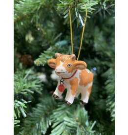 Kitmir Cow Ornament (Small)