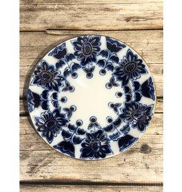Imperial Lomonosov Blue Field Dessert Plate