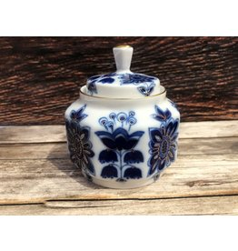 Imperial Lomonosov Blue Field Sugar Bowl