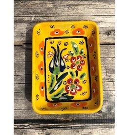 Black Sea Pottery Rectangular Dish in Yellow