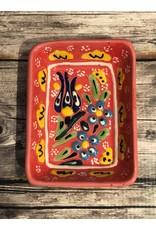 Black Sea Pottery Rectangular Dish in Salmon