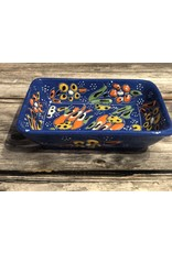 Black Sea Pottery Rectangular Dish in Dark Blue