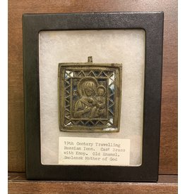 """19th Century Russian Icon """"Smolensk Mother of God"""""""