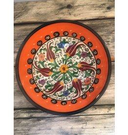 """Black Sea Pottery  Small """"Tulip"""" Bowl (Orange)"""