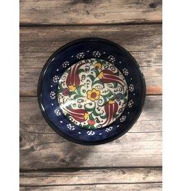 """Black Sea Pottery Small """"Tulip"""" Bowl (Dark Blue)"""