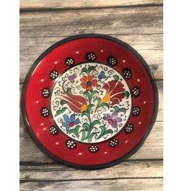 """Black Sea Pottery Small """"Tulip"""" Bowl (Red)"""