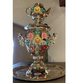 Floral Russian Samovar with Teapot