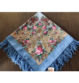 Traditional Russian Scarf (Light Blue)