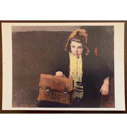 """Vintage """"Young Traveler"""" Postcard"""