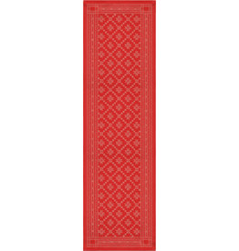 Red Folk Pattern Wide Runner