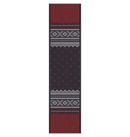 Marius Black & Red Folk Pattern Runner