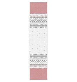 Marius White & Red Folk Pattern Runner