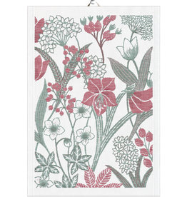 Ljuvlig Holiday Tea Towel in Red and White