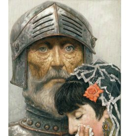 "Korzhev ""Don Quixote with a Lady"" Postcard"