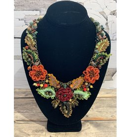 OVS Wreath Necklace with Poppies