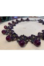 OVS Purple Choker with Round Beads