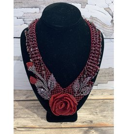 OVS Garnet Rose Necklace