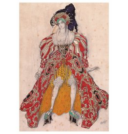 "Bakst ""Costume Design"" Postcard"