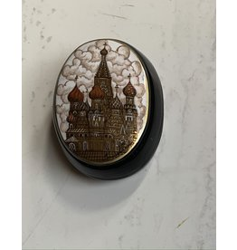 Lacquer Box with St. Basil's (Oval)