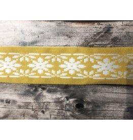 Slavic Folk Art Ribbon Yellow and White