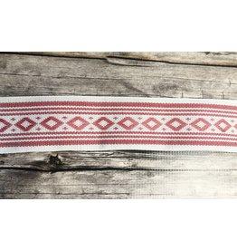 Slavic Folk Art Ribbon Light Red Diamond Pattern