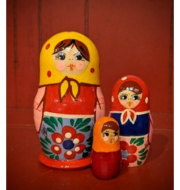 Traditional Matryoshka Red Polka Dot (Three-Piece)