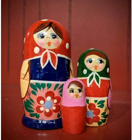 Traditional Matryoshka Blue Dress (Three-Piece)