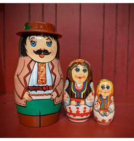 Ukrainian Matryoshka (Three-Piece)