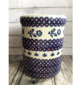 Boleslawiec Polish Pottery Utensil Holder with Red Dots