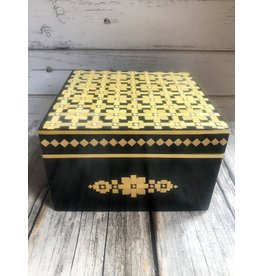 Vintage Belarusian Inlaid Wood Jewelry Box