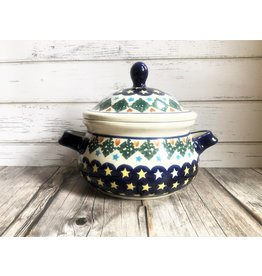 Boleslawiec Polish Pottery Small Tureen Stars and Hearts
