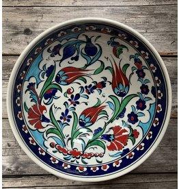 "Black Sea Pottery ""Tulip"" Serving Bowl (Multi-Color on White)"