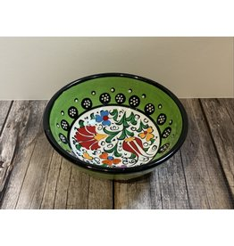 """Black Sea Pottery Small """"Tulip"""" Bowl (Green)"""