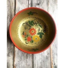 Khokhloma Bowl Gold with Flowers