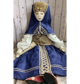 Vintage Russian Folk Costume Doll (Blue)