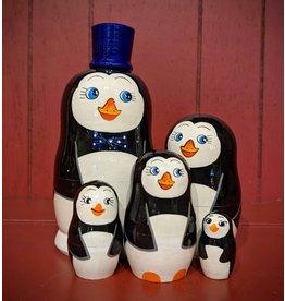 Penguin Matryoshka (Blue Hat)