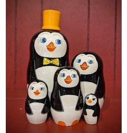 Penguin Matryoshka (Yellow Hat)