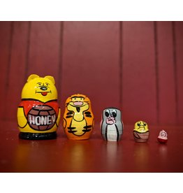 Mini Matryoshka Winnie the Pooh (Five-Piece)