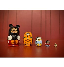 Mini Matryoshka Mickey Mouse (Five-Piece)