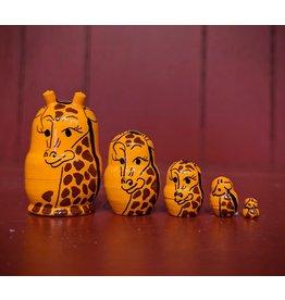Mini Matryoshka Giraffe (Five-Piece)
