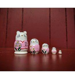 Mini Matryoshka Hello Kitty Pink (Five-Piece)