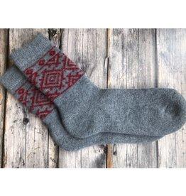 Angora Wool Socks, Grey
